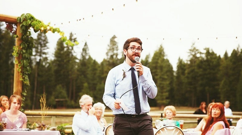 The wedding toast tradition